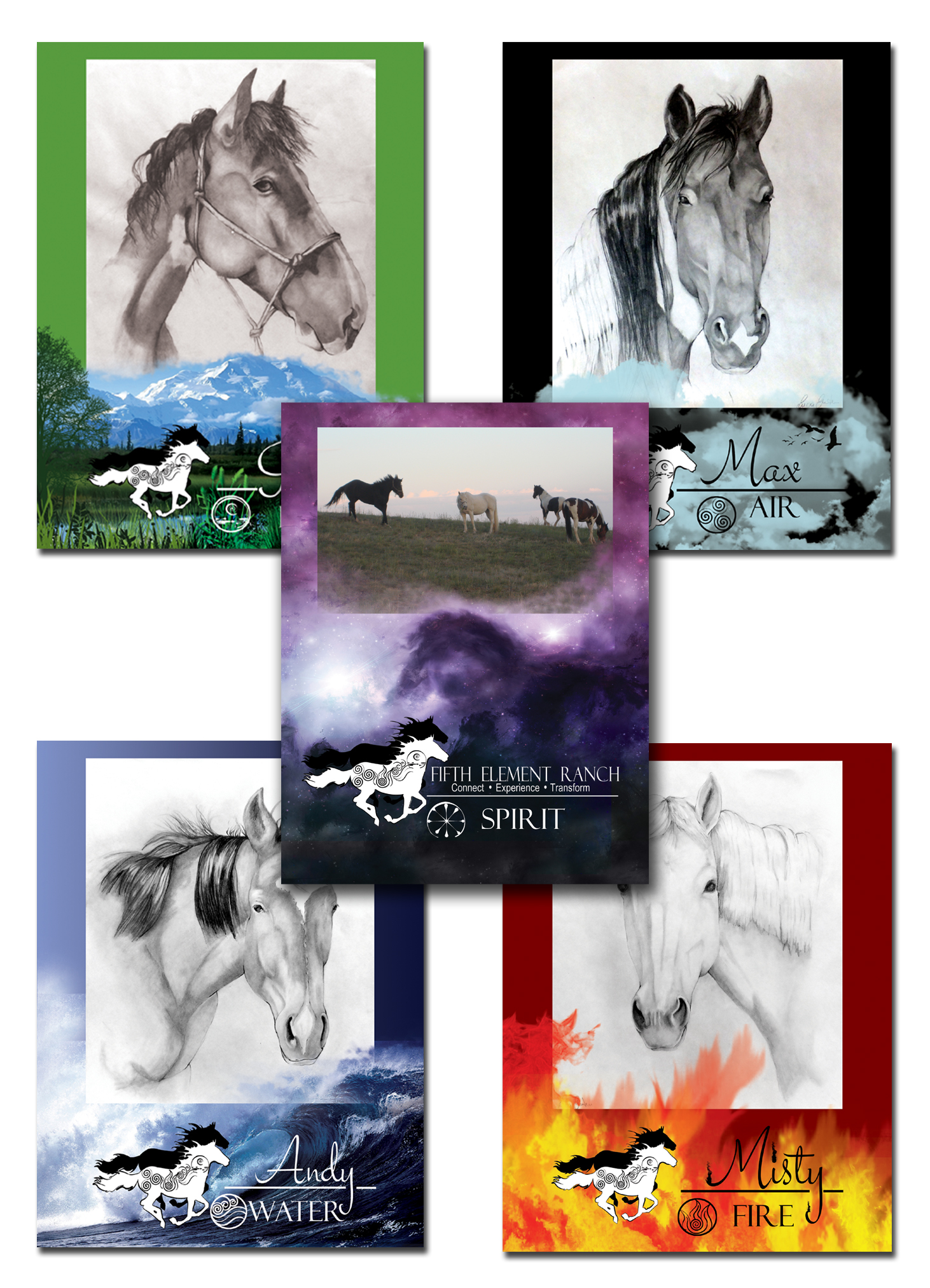 Fifth Element Ranch Horse Greeting Cards